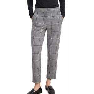 Velvet by Graham & Spencer Plaid Cropped Trousers